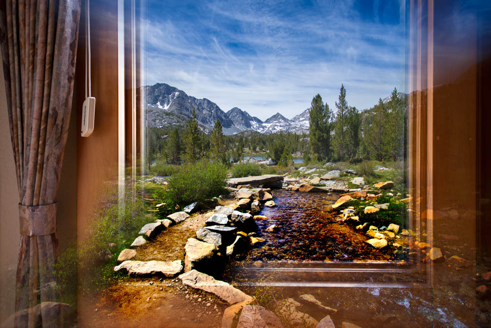 """Creekside Path Through Window"" © Dale Stuart"